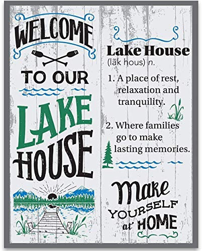 Welcome To Our Lake House Definition - 11x14 Unframed Typography Art Print - Great Lake House Decor Under $15 (Printed on Paper, Not Wood)