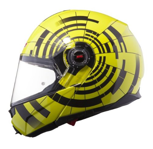 LS2 FF386 Helmet with Focus Graphic (Hi-Vis Yellow, X-Small)
