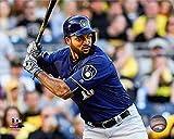 "Domingo Santana Milwaukee Brewers 2016 MLB Action Photo (Size: 8"" x 10"")"