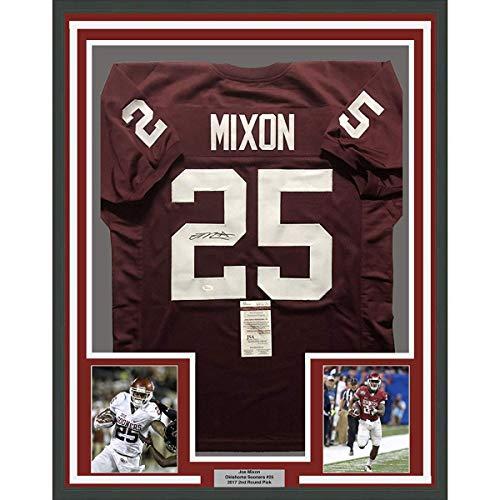Framed Autographed Signed Joe Mixon 33x42 Oklahoma Sooners Red College  Football Jersey JSA COA f4eec8187