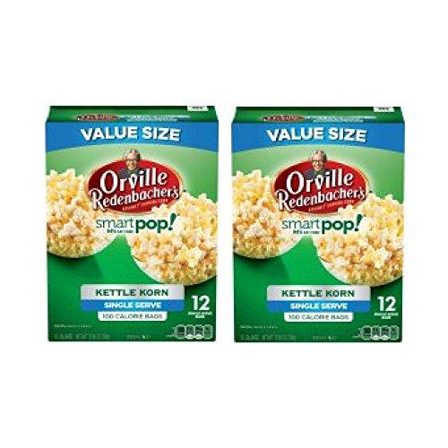 Korn Redenbacher Orville Kettle (Orville Redenbacher's SmartPop! Kettle Korn Popcorn, Single Serve Bag, 12 Ct - 2 Packs)