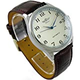 Winner Men's Classic Automatic Mechanical Day Calendar Luxury Leather Band Watch