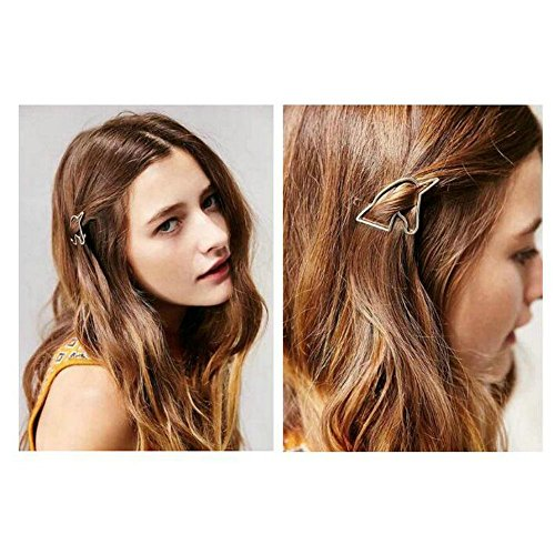Joyci 1Pcs Women's Unique Unicorn Side Clip Girl Edge Hair Pin Prom Headwear (Gold)