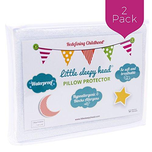 Little Sleepy Head Toddler Pillow Protectors (2-Pack)