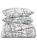 Calvin Klein Home City Plaid Duvet Set King, Storm 3 Piece