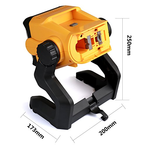 LED Work Light Battery Powered - Enegitech 20W 2800LM 4000K LED Working Light Powered by Cordless Tool Battery and DC Adapter, Multiple Mount for Jobsite, Workshop, Construction Site by Enegitech (Image #3)