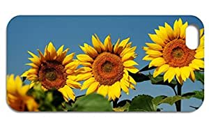 10pcs Generic Sunflower Hard Cell Phone Case for iPhone5 Black