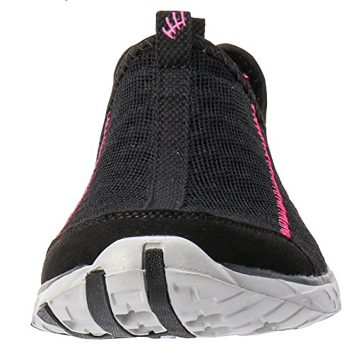 Black On Slip Fushia Shoes Water Women's Aleader Mesh qYEftH