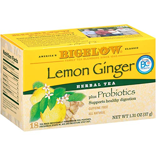Bigelow Tea Herb Plus Lemon Ginger, 18-Count Tea Bags (Pack of 6), 108 Tea Bags Total. ()