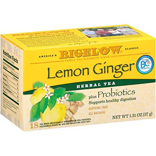 Bigelow Tea Herb Plus Lemon Ginger, 18-Count Tea Bags (Pack of 6), 108 Tea Bags Total.
