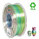 PLA Filament 1.75mm Rainbow Multicolor, ERYONE Multicolor Filament PLA 1.75mm, 3D Printing Filament PLA for 3D Printer and 3D Pen, 1kg 1 Spool