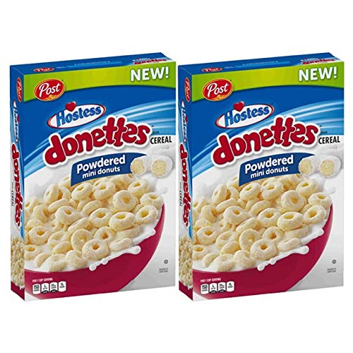 (Hostess Donettes Powdered Mini Donuts Cereal by Post, 18 oz. (Pack of 2))