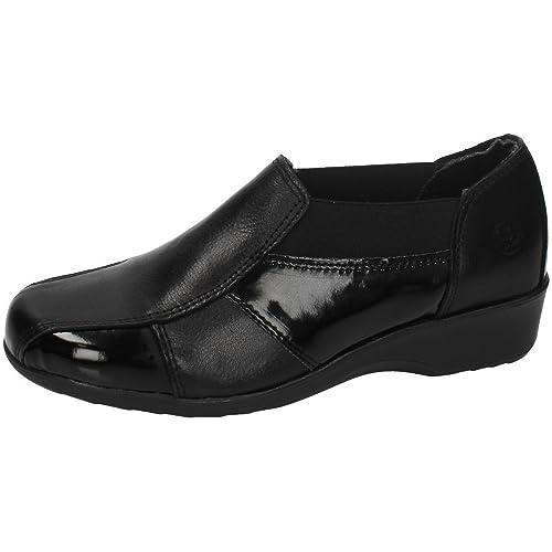 48 HORAS 620203/49 Mocasines DE Charol Mujer Zapatos MOCASÍN Negro 36: Amazon.es: Zapatos y complementos