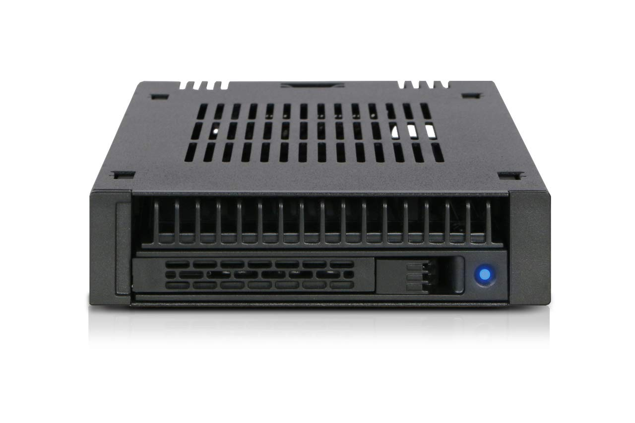 ICY DOCK 1X 2.5 SAS/SATA HDD/SSD Mobile Rack for External 3.5'' Bay - Comparable to Tray-Less Design - Expresscage MB741SP-B