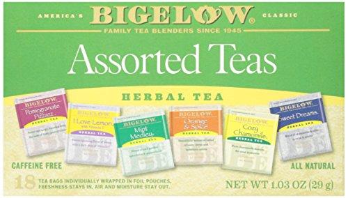 Bigelow Herbal Teas Six Flavor Assortment, 18 (Bigelow Cinnamon Apple Herb Tea)
