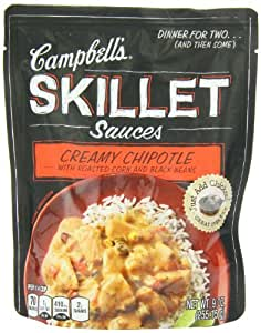 Campbell's Skillet Sauces, Fire Roasted Tomato Red Pepper and Chiles, 9-Ounce Pouches (Pack of 8)
