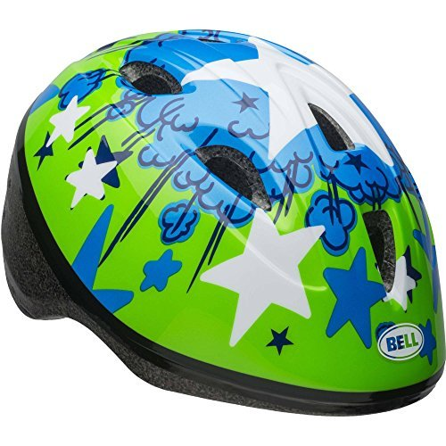 Cheap Bell Sports Grasshopper Starburst Boys Toddler Helmet, Green and Blue
