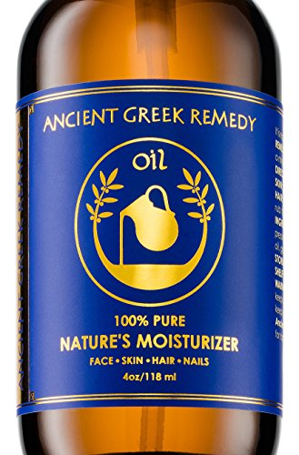 Organic Blend of Olive, Lavender, Almond and Grapeseed oils with Vitamin E. Day and night Moisturizer for Skin, Dry Hair, Face, Scalp, Foot, Cuticle and Nail Care. Natural Body oil for Men and Women from Ancient Greek Remedy