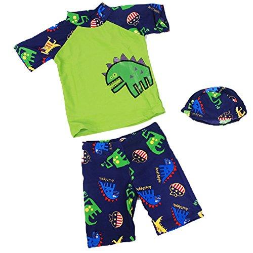 Little Dinosaur Pieces Swimsuit Swimming