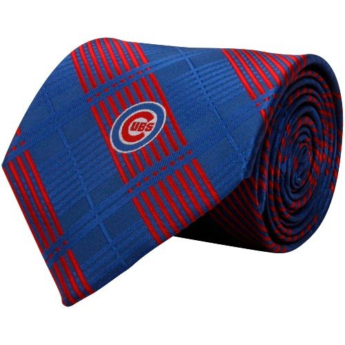 MLB Chicago Cubs Royal Blue-Red Poly Plaid Woven -