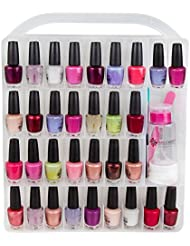 Nail Polish Organizer Storage Holder case - Stores 64...