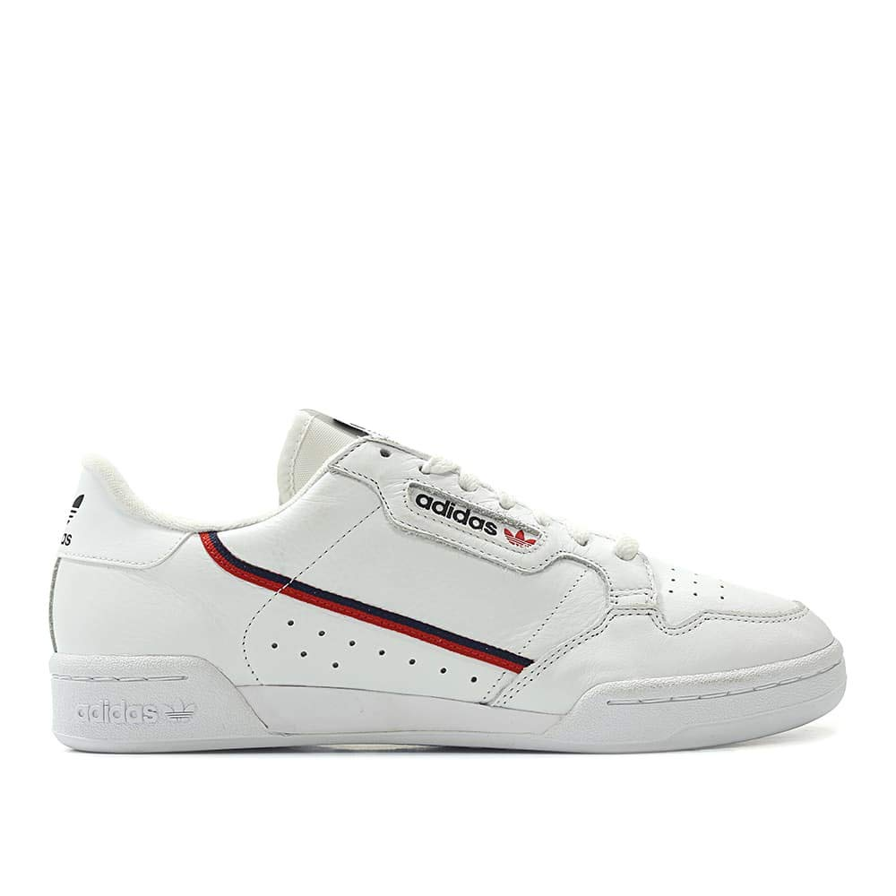 White   Scarlet   Collegiate Navy Adidas Continental 80 Mens B41672