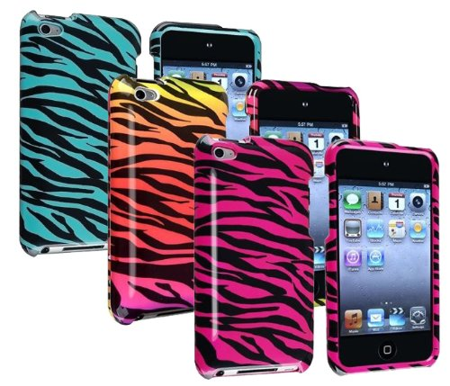 Importer520 Zebra 3in1 Colorful Combo Snap-on Hard Crystal Skin Case Cover Accessory for Ipod Touch 4th Generation 4g 4 8gb 32gb 64gb