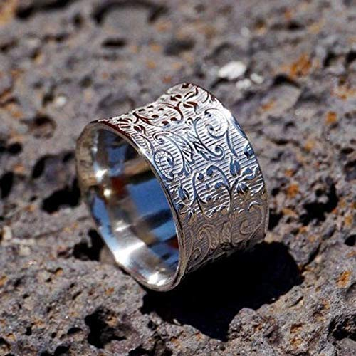 Amazon.com: Mothers Day Gift Band, Leafing band Spinner ring ...
