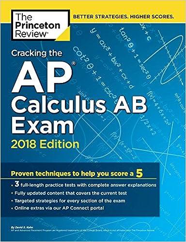 Amazon com: Cracking the AP Calculus AB Exam, 2018 Edition