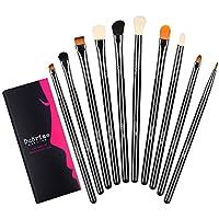 10 Piece Duorime Silky Eyeshadow Makeup Brush Set