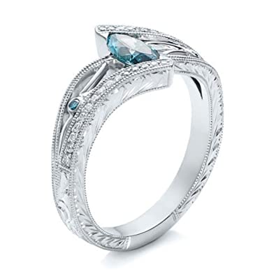 Buy Wintefei Shiny Rhinestone Marquise Cut Hollow Wedding