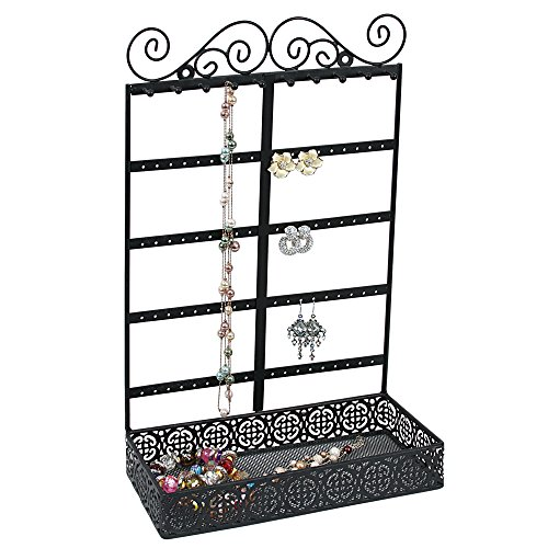 Caddy Bay Collection Vintage Style Handmade Metal Earring Necklace Bracelet Jewelry Display Tower Tree Rack from Caddy Bay Collection