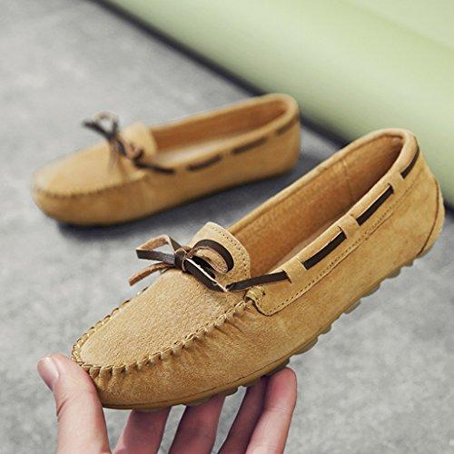 35 Plat Décontractées Chaussures Une Hwf Femme Profonde Couleur Paresseux Pédale Printemps Taille Peu Pois Bouche C xfqRZ8q0B