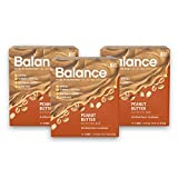 Balance Bar, Healthy Protein Snacks, Peanut Butter, with Vitamin A, Vitamin C, Vitamin D, and Zinc to Support Immune Health, 1.76 oz, Pack of Three 6-Count Boxes