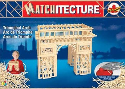 Arc de Triomphe (Triumphal Arch in Paris, France) 3D Matchstick Jigsaw Puzzle Made by Matchitecture
