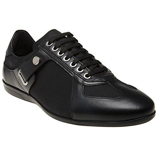 Versace Collection Logo Formal Herren Sneaker Schwarz Schwarz