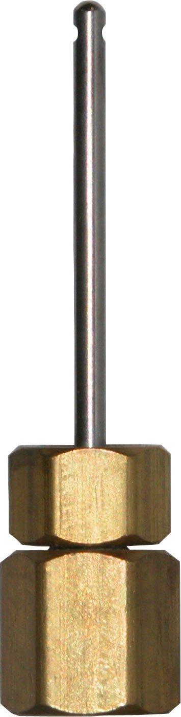Winters STP Series STP003 Brass Gauge Adaptor 2 3 4 OAL x 1 3 4 x 1 8 Probe
