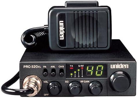 Compact Design Uniden PRO510XL Pro Series 40-Channel CB Radio Backlit LCD ANL