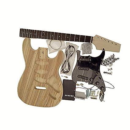 Gdst4404 Z Coban Guitars Guitarra Eléctrica Hazlo Tú Mismo Kit con una Cara Original Zebrawood Chapa