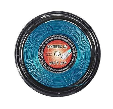 P3 International Pros Pro Synthetic Gut Cordaje de Tenis 200m Rollo Azul 1.30mm
