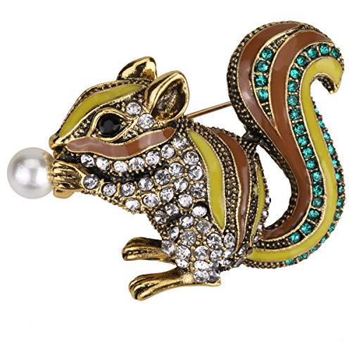 Edwardian School Boy Costumes - Hiddleston Jewelry Cute Squirrel Brooch