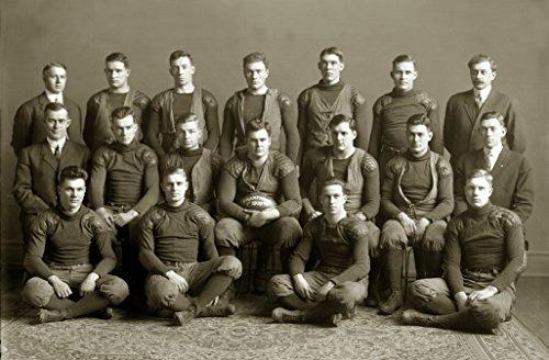(Gatsbe Exchange 1910 Michigan Wolverines Football Team Champs Vintage Old Photo 8 x 10 Tin Sign)