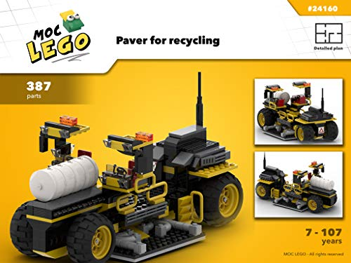 Recycling asphalt and replacing it on the road (Instruction Only): MOC LEGO por Bryan Paquette