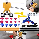 YOOHE Auto Paintless Dent Removal Tools Kit - Gold Dent Removal Kit Dent Puller with Pulling Tabs for Car Hail Dent Removal and Door Dings Dent Repair