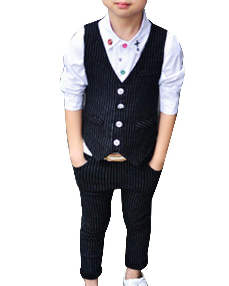 Vestito Abito Completo Bambini Ragazzo Gliet + Pantaloni Vestitino Completino Elegante LaoZanA