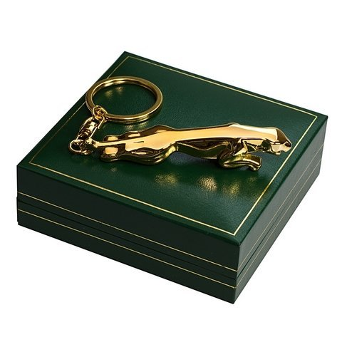 The British Gold Company 24K Gold Finished Luxury And Jaguar Mug Car Keyring Designer In Luxuruious - Case Collectors Cufflinks