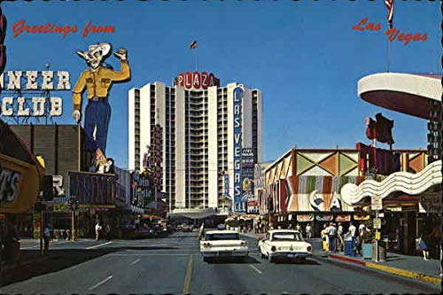 Fremont Street - Casino Center Las Vegas, Nevada Original Vintage Postcard