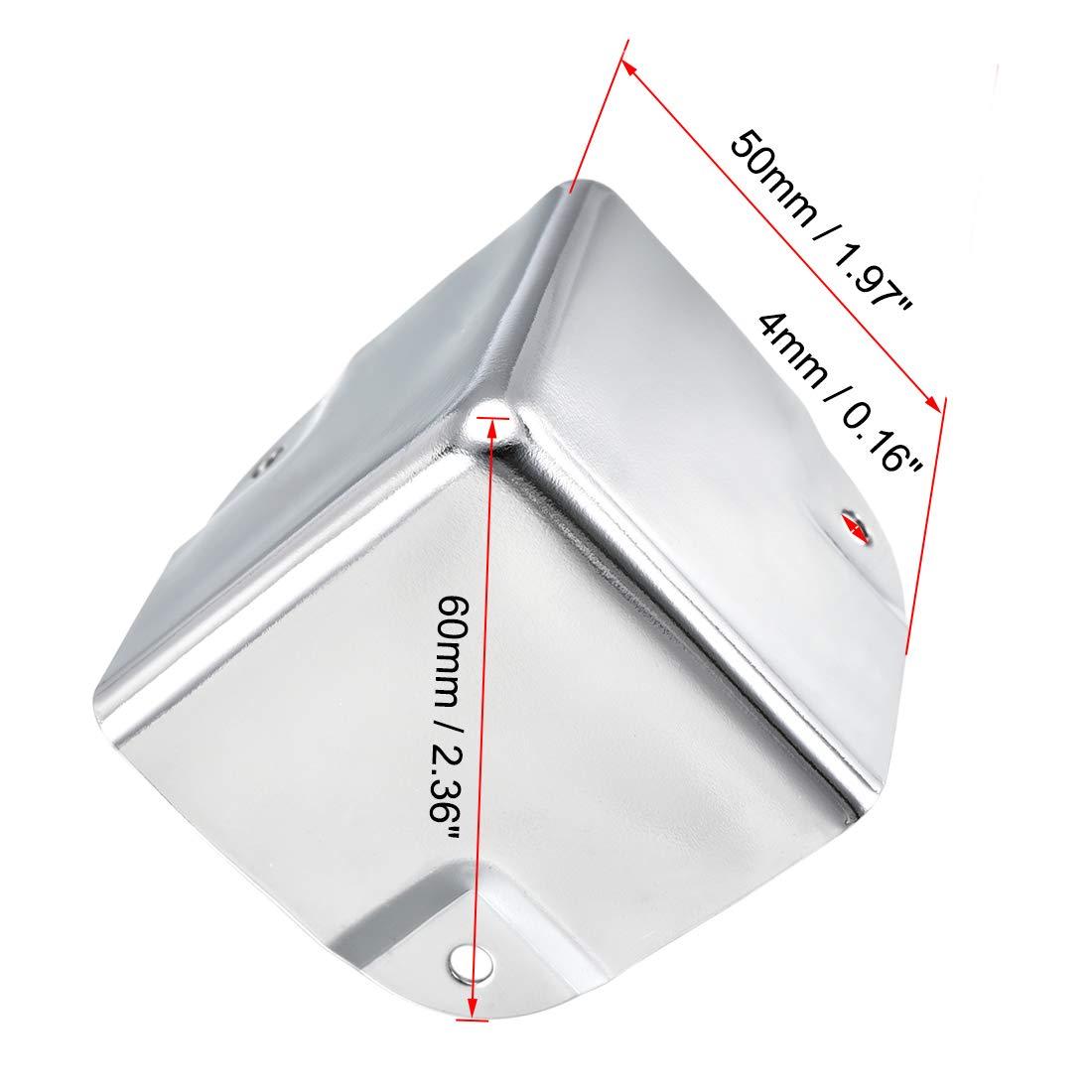 sourcing map Eckenschutz Kantenschutz Abdeckung Metall Box Silber Ton 22 x 22 x 22mm-4St