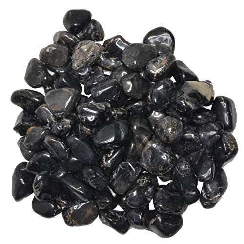 (Hypnotic Gems Materials: 1 lb Black Onyx Tumbled Stones - Grade 1 - XSmall - 0.5