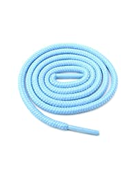 "Round Shoelaces 3/16"" Thick Solid Colors for All Shoe Types Several Lengths (Light Blue-27)"